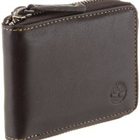 Timberland Men's Block Island Zip Around Wallet