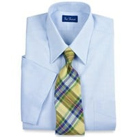 Paul Fredrick Pinpoint Oxford Short Sleeve Dress Shirt