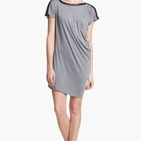 C & C California Faux Leather Trim Asymmetrical Dress (Online Only) | Nordstrom