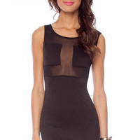 Cover to Cover Mesh Dress in Black :: tobi