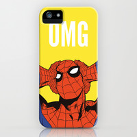 OMG Spiderman iPhone & iPod Case by Emanoel Melo
