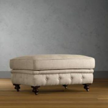 Kensington Upholstered Ottoman | Kensington | Restoration Hardware