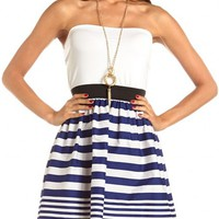 Striped 2-Fer Tube Dress: Charlotte Russe