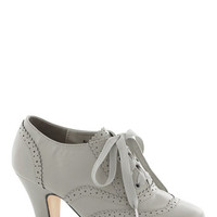 Dance Instead of Walking Heel in Grey | Mod Retro Vintage Heels | ModCloth.com