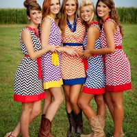 Game Day Dress Chevron Print