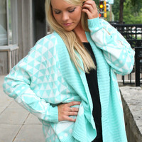 The Sweetest Thing Cardigan - Mint
