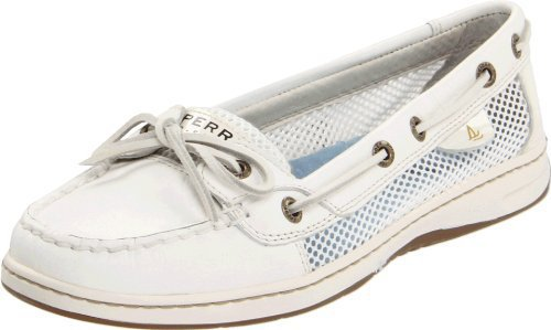 Sperry Women&#x27;s Angelfish Shoes White Open Mesh