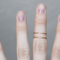 Midi Rings : Set of 2 Thin Gold Rings, Knuckle Ring, Thin Rings, Stacking Rings