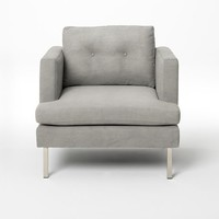 Jackson Armchair - Dove Grey Performance Velvet
