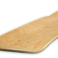 Blank Decks Warning Skateboard Deck (Natural)