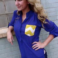 Hot Mess Tunic - Royal Blue | The Rage