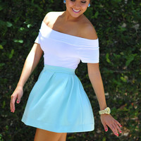 First Pleats Winner Skirt: Baby Blue | Hope's