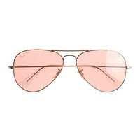 Ray-Ban® original aviator sunglasses with polarized pink lenses - eyewear - Women's accessories - J.Crew