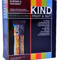 KIND Fruit  Nut, Almond  Coconut, All Natural, 1.4-Ounce Gluten Free Bars, (Pack of 12)