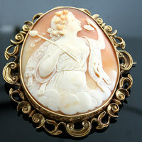 Victorian Cameo - Original Antique Cameo in Original Box