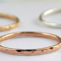 Reflection Stacking Ring:  14K Gold-filled ring, dainty ring, simple ring, gold ring, silver ring, skinny ring