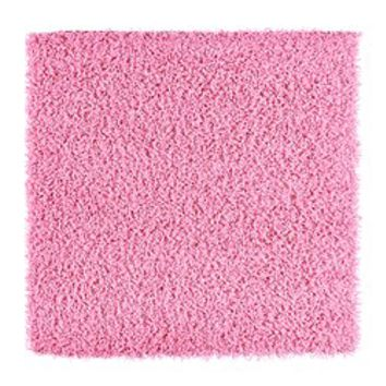 Hampen rug high pile pink from on wanelo for Ikea pink rug