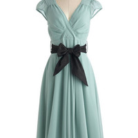ModCloth Pastel Long Cap Sleeves A-line Have the Dance Floor Dress in Mint