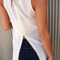 Studded Back Tuxedo Tank | The Rage