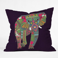 DENY Designs Home Accessories | Sharon Turner Painted Elephant Outdoor Throw Pillow