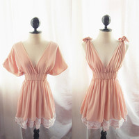 Romantic Fairy Dusty Pink Peachy Dress Tunic by RiverOfRomansk