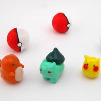 Pokemon Miniatures - Pikachu, Bulbasaur, Charmander First Generation
