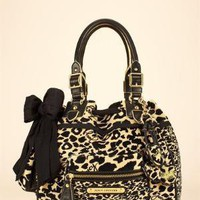 VELOUR LEOPARD DAYDREAMER BAG - Juicy Couture