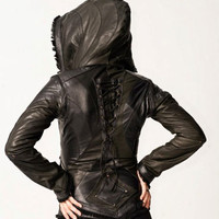 Anahata Designs Womens Victory Leather Jacket