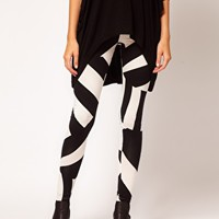 ASOS Leggings in Oversized Tribal Print at asos.com