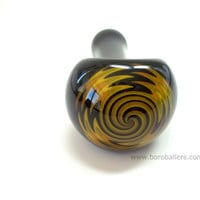 Glass Pipe,  Reversal Black, Yellow, and Orange Pipe by Ed DuBick, Boro Ballers, Hand Blown Glass Pipes, READY to SHIP, Cgge Team