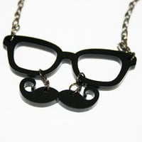 Moustache and glasses necklace - ABATABA