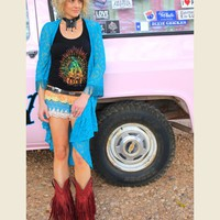 VENTURA HWY SHORTS-DUSTY SUNSE - Junk GYpSy co.
