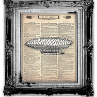 AERO ZEPPELIN DICTIONARY Art Print Antique by FoxHunterStudios
