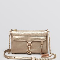 Rebecca Minkoff Crossbody Clutch - Metallic Mini Mac | Bloomingdale's