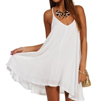 White Braided Strap Tunic
