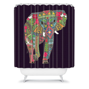 DENY Designs Home Accessories | Sharon Turner Painted Elephant Shower Curtain