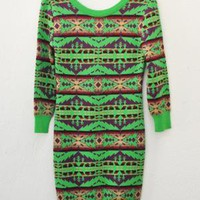 Pendleton Meets Opening Ceremony Green Knit Dress