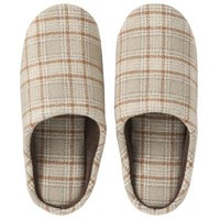 Wool Check Slippers