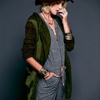 Free People Printed Pieced Parka