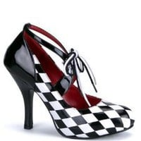 Amazon.com: Checkered Costume High Heel Pump - 9: Shoes