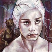 Daenerys Targaryen - Game of Thrones Art Art Print by Olechka