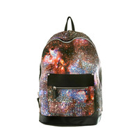 Spiderweb Galaxy Leather Backpack