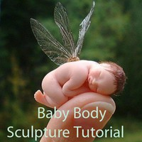 Baby and Fairy body sculpture tutorial using face molds | Cherylamie - How-To on ArtFire