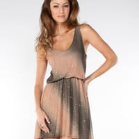 Airbrush Glitter Tank Dress with Elastic Waist  Sexy Dresses