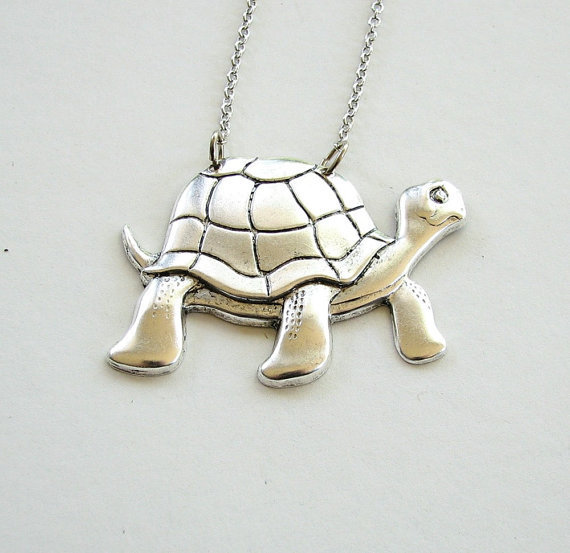 turtle necklace tortoise jewelry by friendlygesture on Etsy