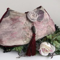 Clutch Purse , Evening Bag , Unique Handbag , Fiber Art Bag