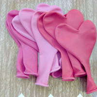 Pack of 9 Heart Shaped Balloons - LOVE, HEART, BALLOONS