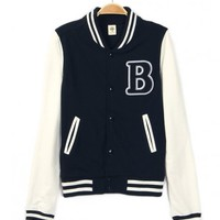 Womens Varsity Letter B Baseball Letterman Jacket Black : Varsity Letterman Jackets,Varsity Jackets For Girls Online Store!