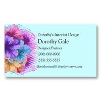 Violets Gone Wild Business Card Templates