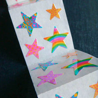 Party Stars - Vintage 90s Sandylion Stickers - 4 panels